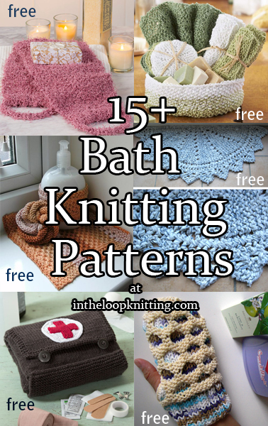 Knitting Patterns For The Bath In The Loop Knitting