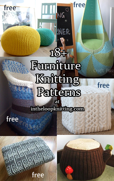 Furniture Knitting Patterns In The Loop Knitting Classy Pattern For Knitted Pouf Ottoman