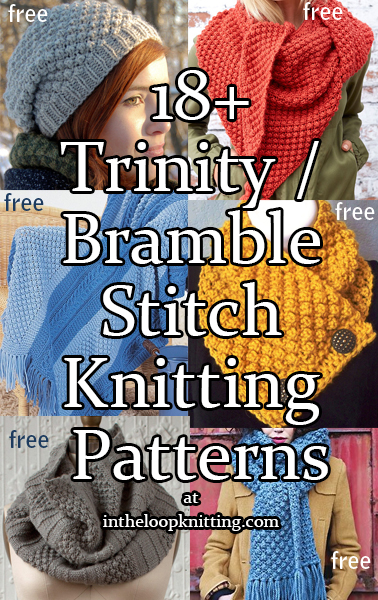Trinity Berry Bramble Stitch Knitting Patterns In The Loop Knitting