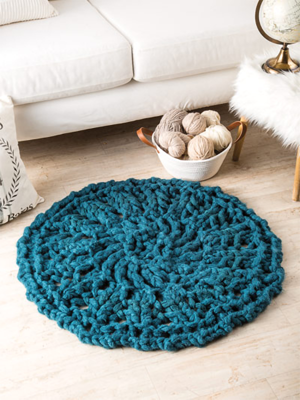 Rug Knitting Patterns In The Loop